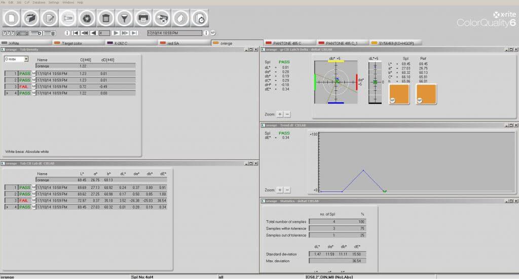 Интерфейс программы CXF ColorQuality 6