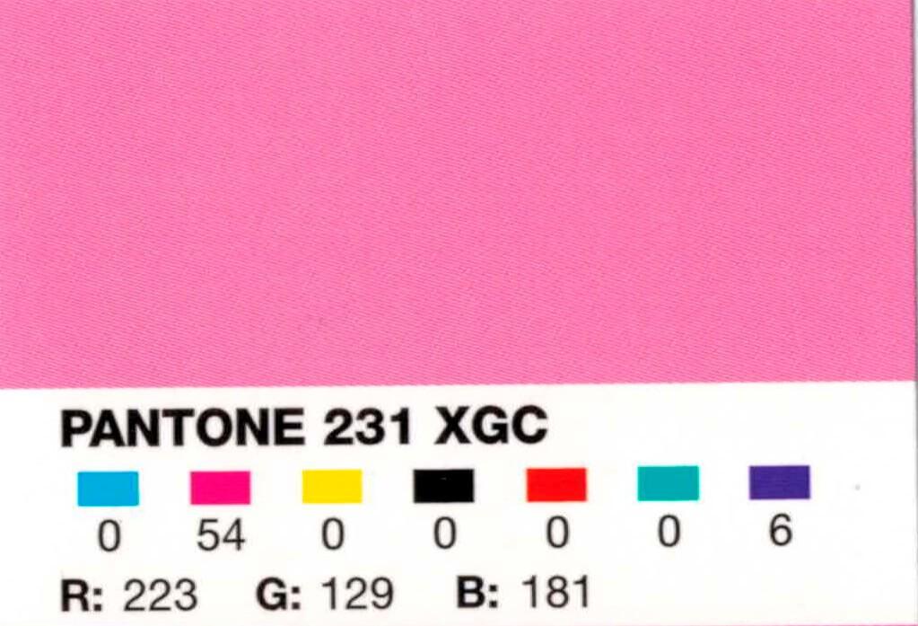 Изображение цвета Pantone 231 в формате XGC