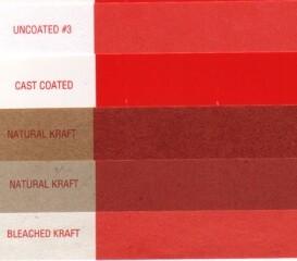 Пример печати краской Pantone на разных бумагах
