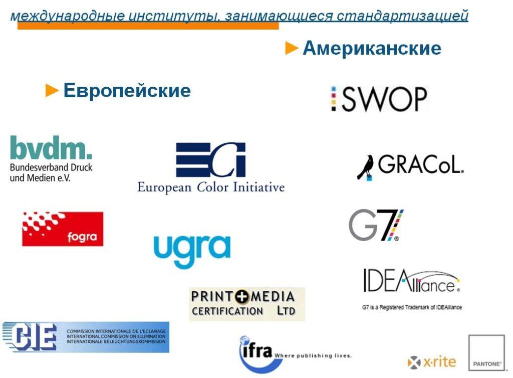 Сертификационные институты известные в Европе и Америке