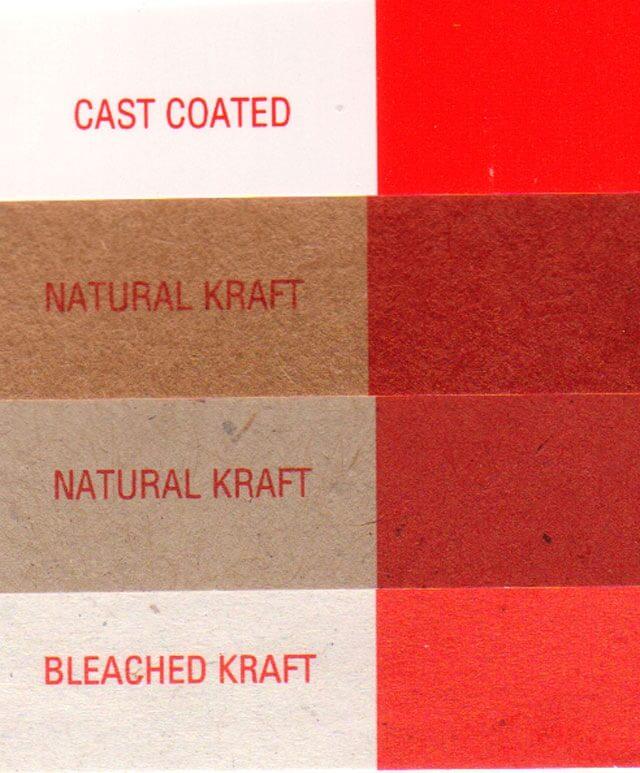 Напечатанный бумажный веер красками Pantone на разных бумагах