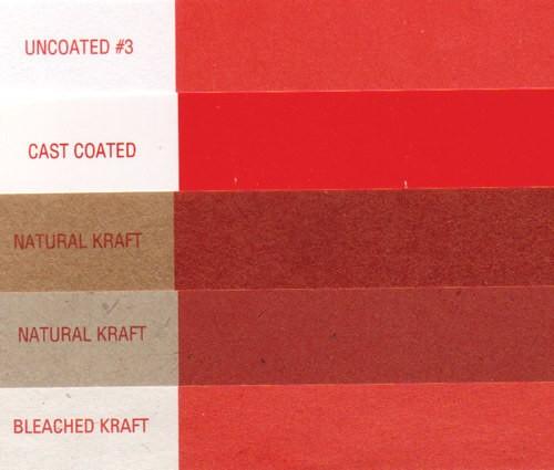 Красный цвет на различных подложках