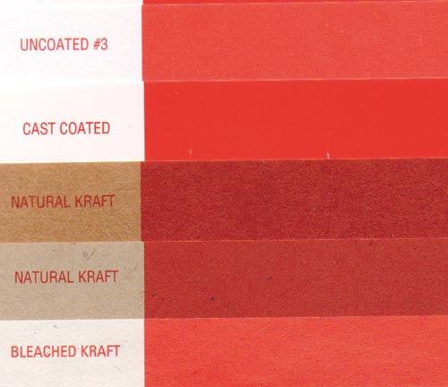 Образец компании Flint Group запечатывания одним цветом различных поверхностей